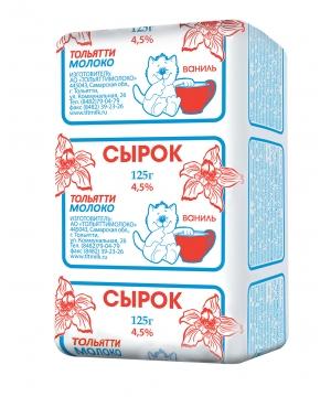 Сырок с ванил. 4.5% Тольяттимолоко