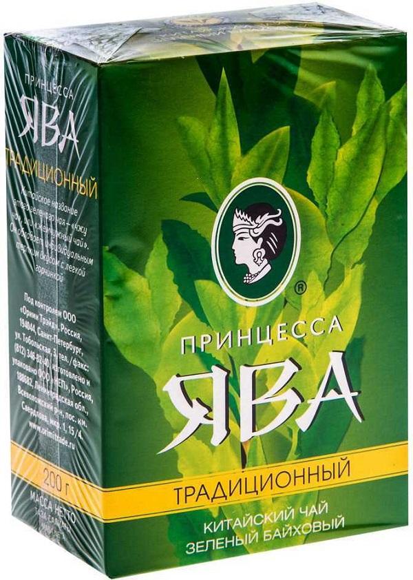 Чай ПРИНЦЕССА ЯВА Традиционный лист зеленый