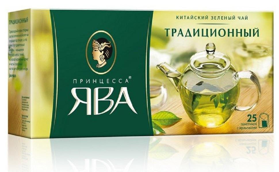 Чай ПРИНЦЕССА ЯВА Традиционный пакет зеленый (2.00гx25п)